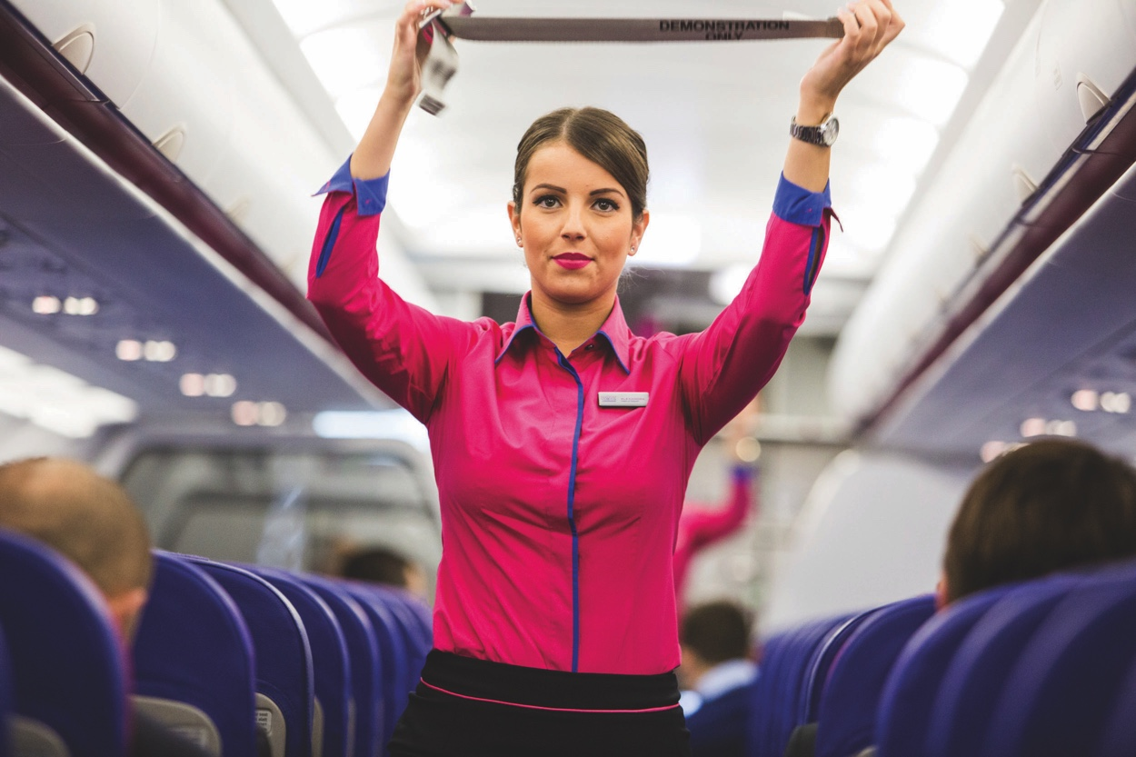 Wizz Air stewardess